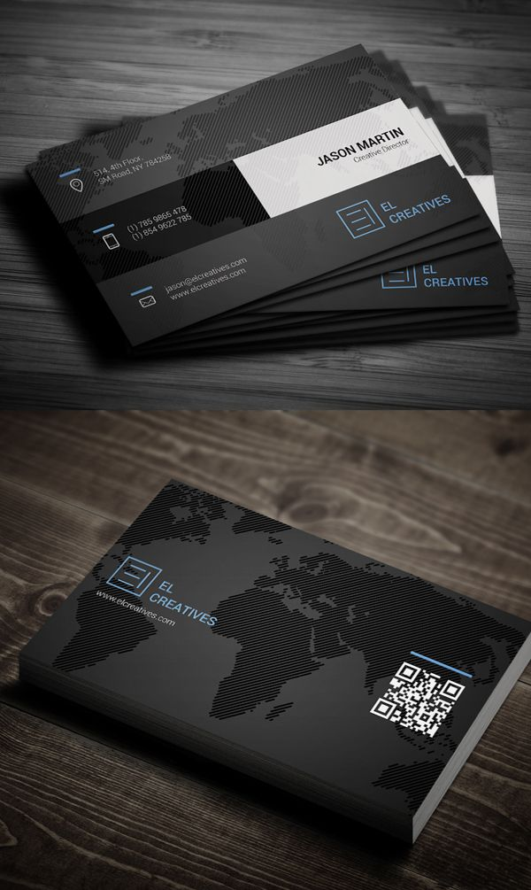 Creative dark business card business cards design pinterest creative dark business card colourmoves