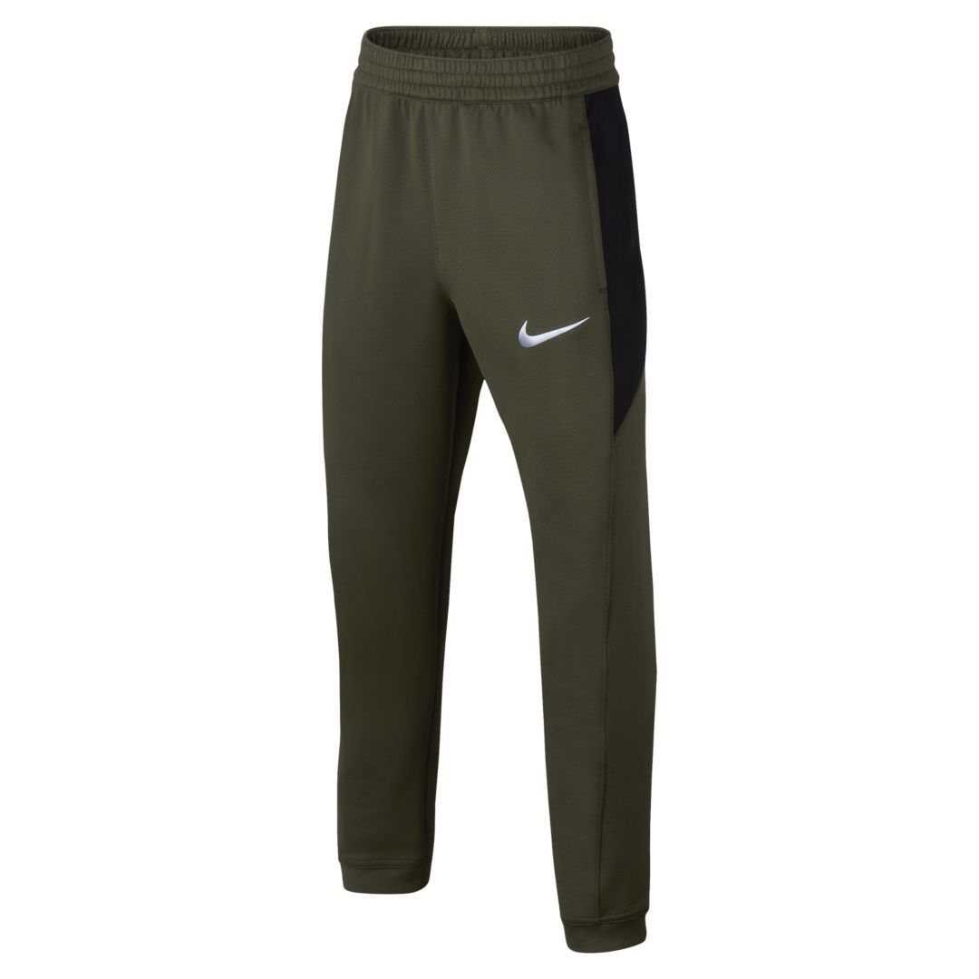 800adac7f Nike Dri-FIT Therma Flex Showtime Big Kids' (Boys') Basketball Pants Size  XS (Olive Canvas)