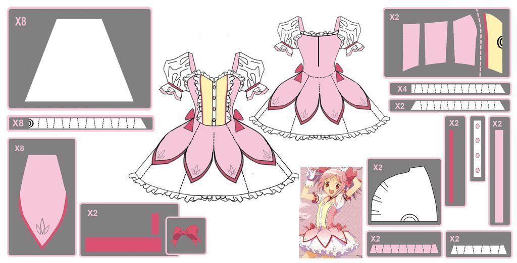 Madoka Kaname ~Magical Dress~ Cosplay Design Draft by ~Hollitaima on ...