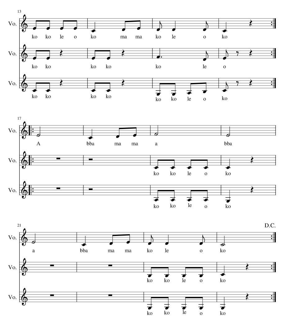 Kokoleoko voces m sica aula de m sica clase de musica for Tu jardin con enanitos acordes