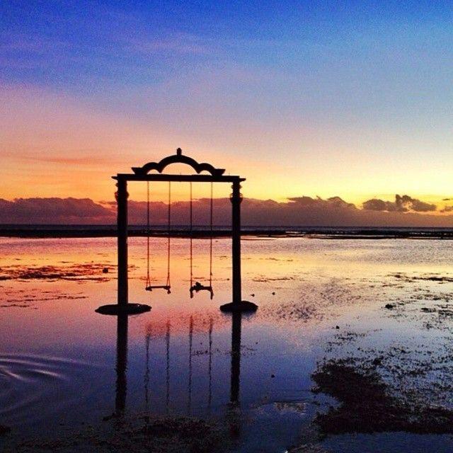 Photo location : The Swing at north of Gili Trawangan Gili ...