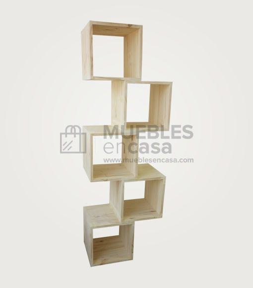 Biblioteca zigzag muebles de pino con env o gratis for Envio de muebles