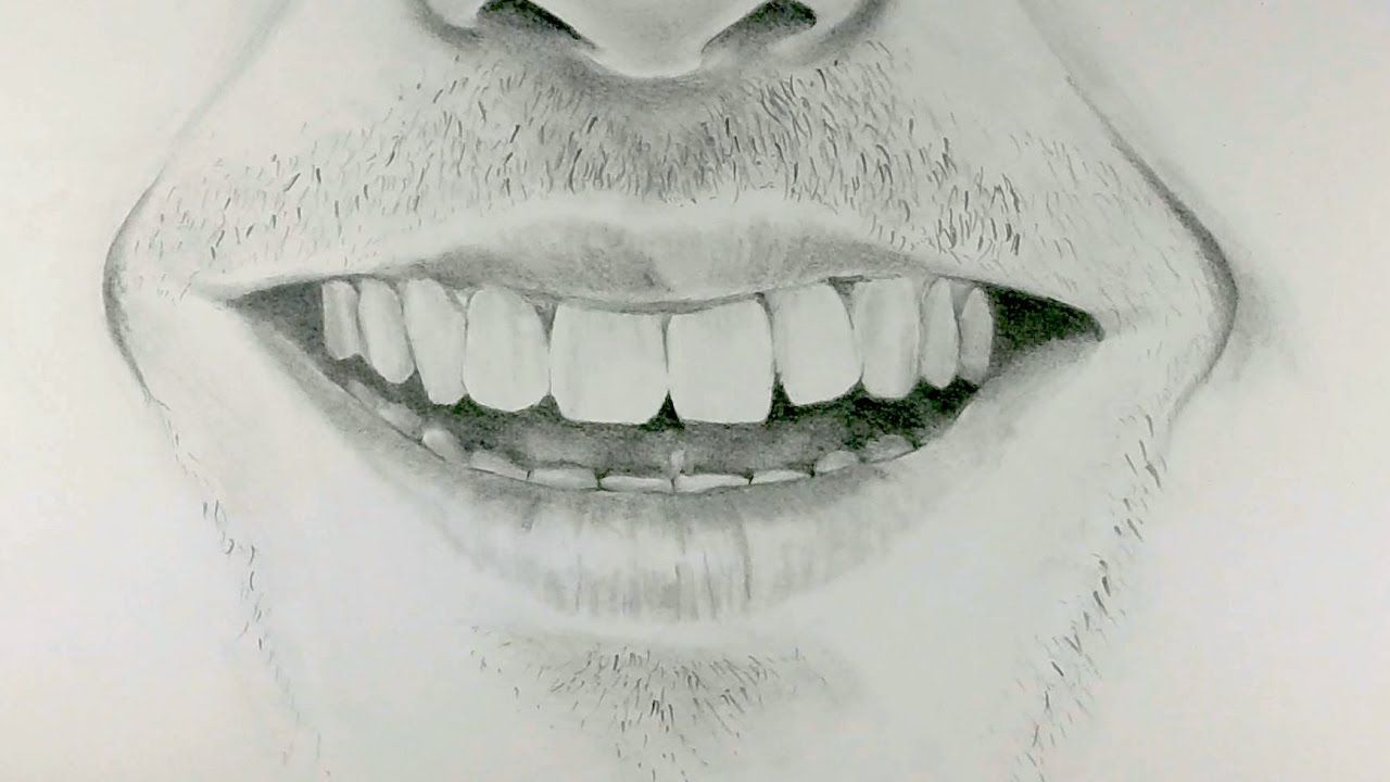 How To Draw A Smiling Mouth Lips Drawing Guy Drawing Smile Drawing