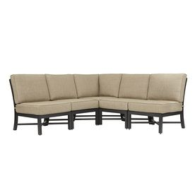 FRONT PORCH $598 Garden Treasures 5 Piece Palm City Steel Cushioned Patio  Sectional Furniture Set Part 91