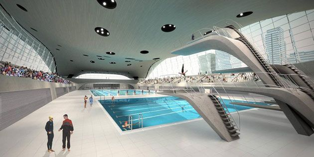 Credit: London 2012/PR The London Olympic Aquatics Centre, designed by Zaha Hadid, is set to be the architectural highpoint of the 2012 Games. When completed it will be the most expensive pool built in Britain.