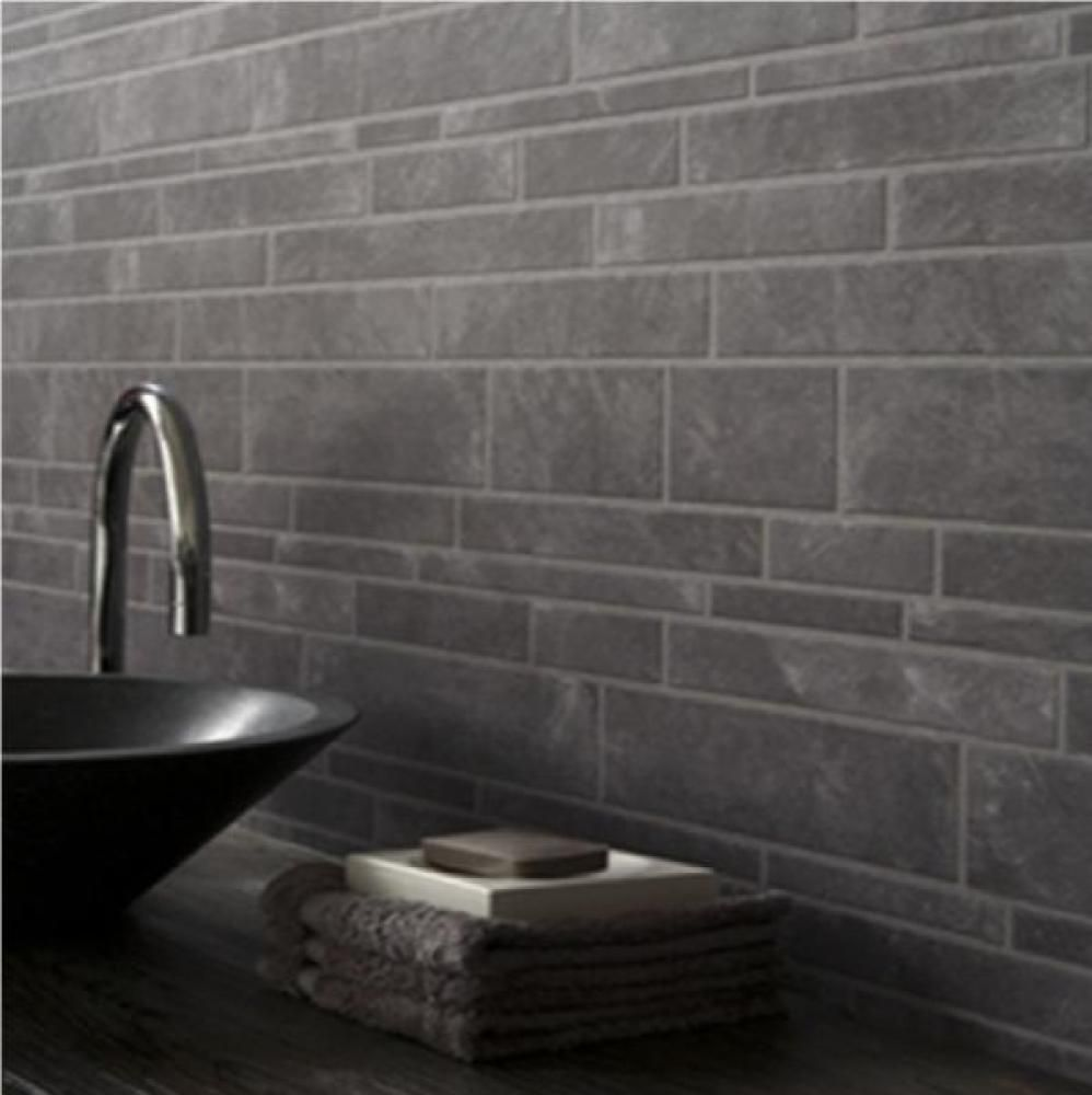 Captivating Graham U0026 Brown Slate Tile Grey Brick Vinyl Kitchen Bathroom Wallpaper  Grey56440