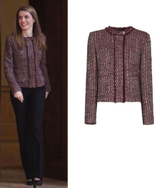 Esta chaqueta, que Letizia llevó en varias ocasiones, es de la colección del pasado invierno de Mango.