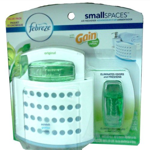 Febreze Small Spaces Gain laundry detergent scent base & refill Air ...