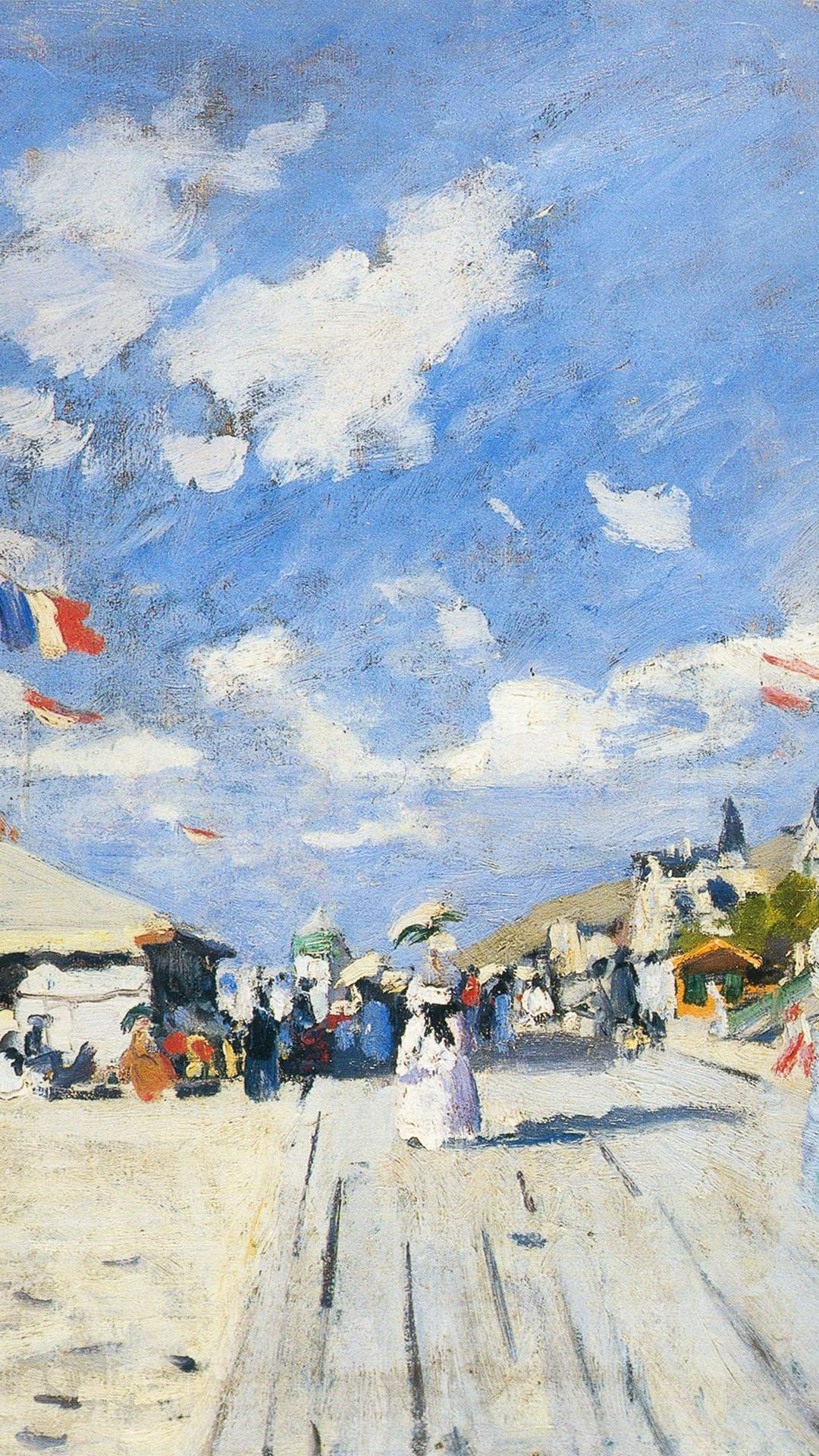 Classic Art Paint Board Walk On Claude Winter Snow