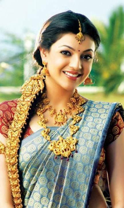 Kajal Aggarwal In Saree Veethi Indian Jewellery Design Indian Actresses Indian Bridal