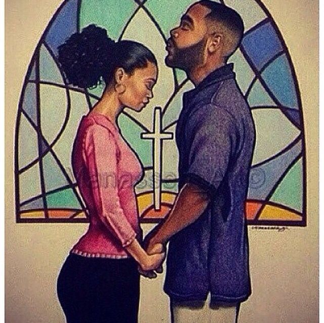 Praying Couple Black Love Art Black Women Art Black Artwork