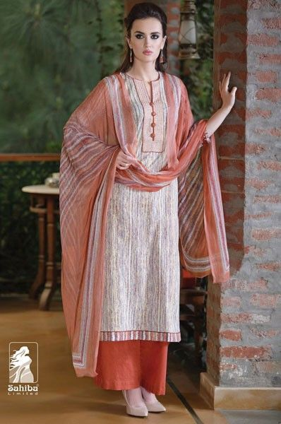 3e5e61c0d8 Party Wear Orange Cotton Palazzo Dress | Palazzo Salwar Suits ...