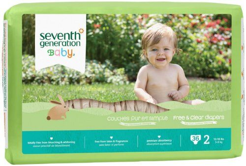 Cheapest Seventh Generation Free & Clear Unbleached Diapers