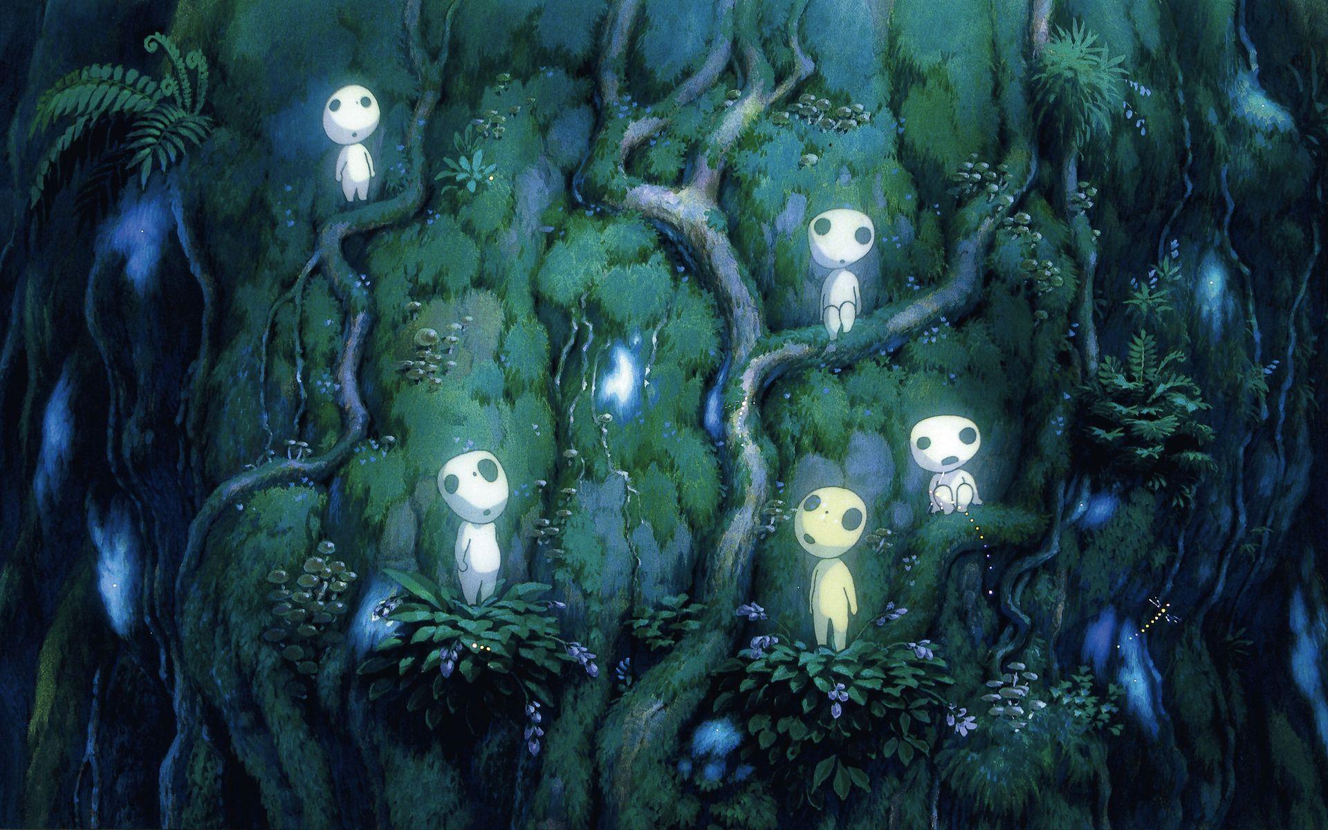 Tags Wallpaper Screenshot Mononoke Hime Studio Ghibli Kodama