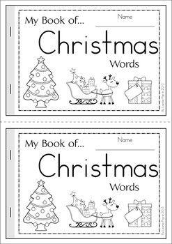 my book of christmas words free christmas kinder. Black Bedroom Furniture Sets. Home Design Ideas