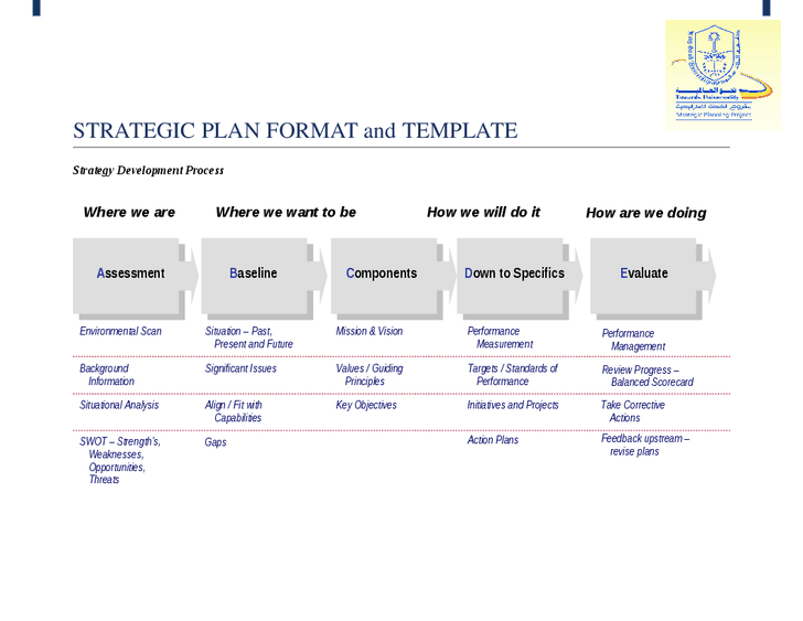 Simple strategic planning template process steps for Environmental scan template