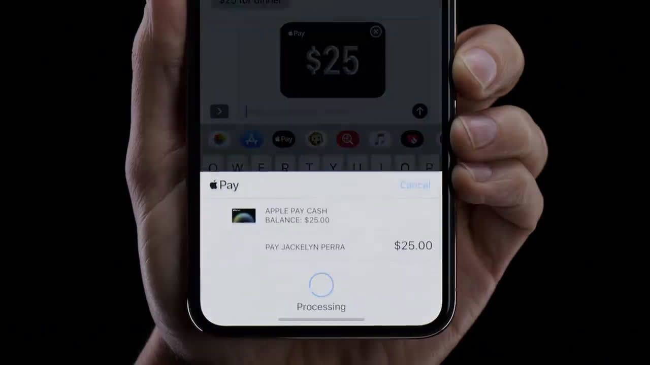 Apple Send And Receive Money Through Imessage With Apple Pay On Iphone Ad Commercial On Tv 2019 Apple Pay Tv Commercials Apple