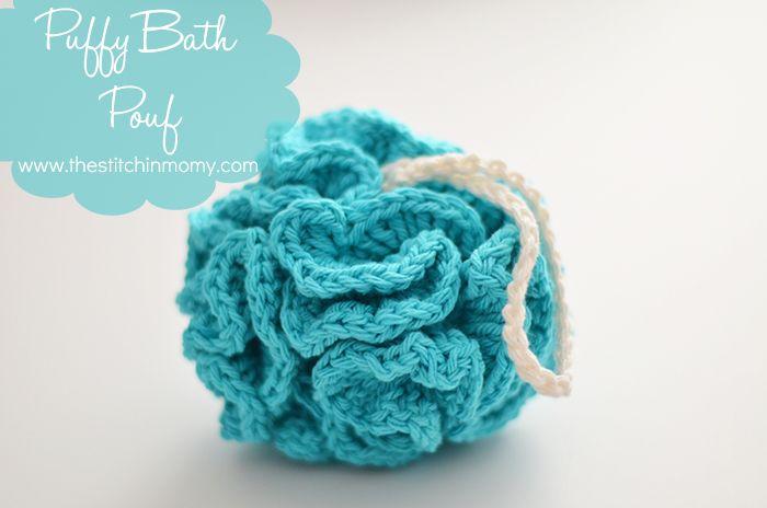 Puffy Bath Pouf – Free Pattern   Craft Ideas   Pinterest   Patrones ...