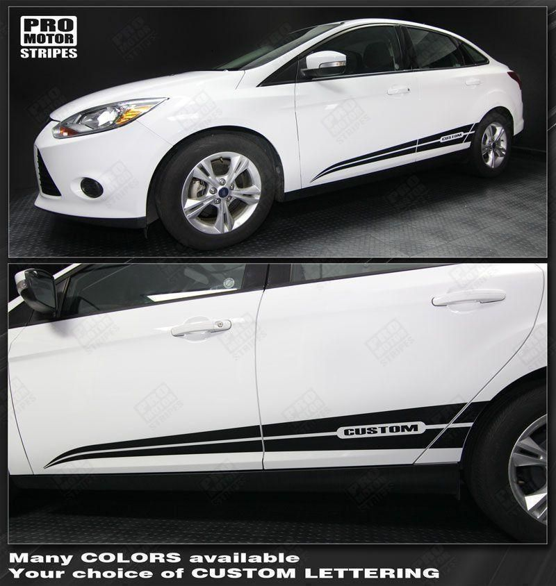 Ford Focus 2011 2018 Rocker Panel Side Accent Stripes Ford Focus