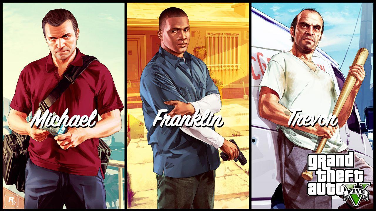Galería de fondos de pantalla de GTA 5 -  La espera por GTA 5 nos tiene mal de la cabeza. Contamos los días que restan para el lanzamiento de Grand Theft Auto el próximo 17 de Septiembre. Afortunadamente, la promoción de este gran juego incluye lanzamientos periódicos de novedades.  http://blog.mp3.es/gta-5-artwork-oficial-personajes-juego/?utm_source=pinterest_medium=socialmedia_campaign=socialmedia  #juegos #wallpapers