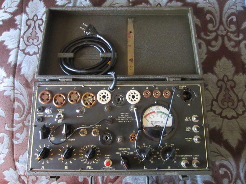 Vintage U S  ARMY Signal Corps TUBE TESTER I-177-B Daven Co