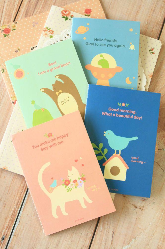 Piyo School Note A6 notebook cute cartoon blank lined kawaii - blank memo