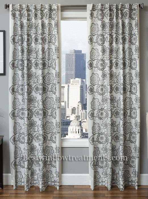 Monica Pedersen Pacific Stripe Striped Linen Curtain Panel In Standard Size Drapes Or Extra Long 108 Inch Curta Curtains Linen Curtain Panels Curtain Styles