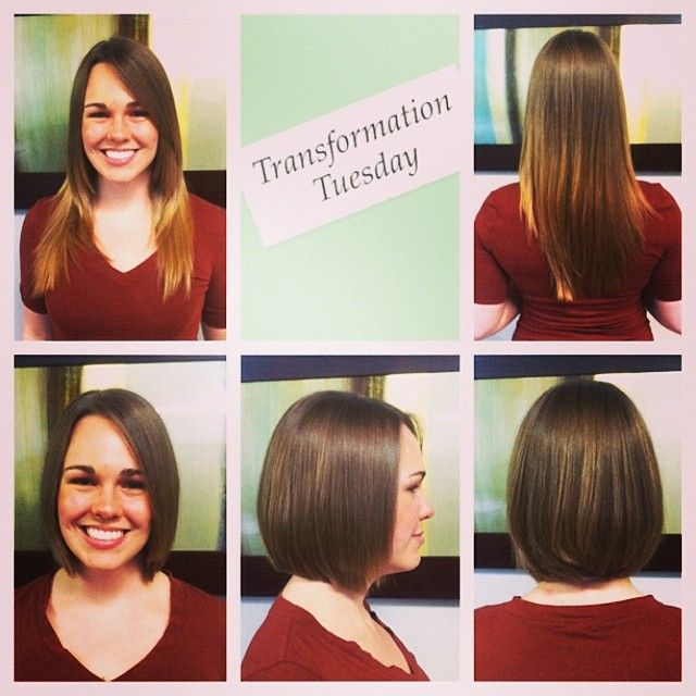 Before And After Bob Haircut Stylist Nikki At Daireds Salon Spa