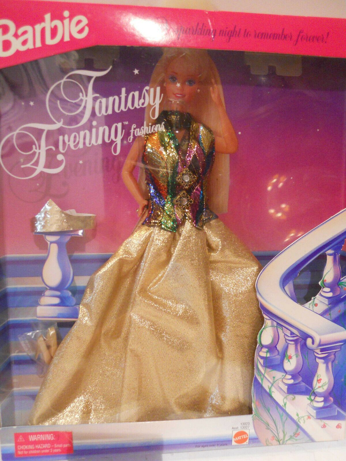DRESS BARBIE DOLL MATTEL SLEEPING BEAUTY PALE BLUE GOLD EVENING GOWN CLOTHING