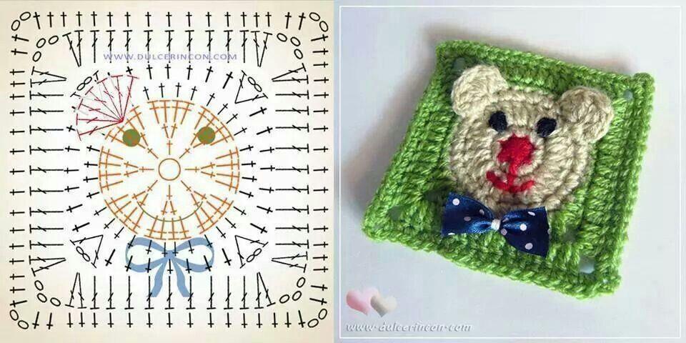 Granny square bear | TEJIDOS | Pinterest | Tejido