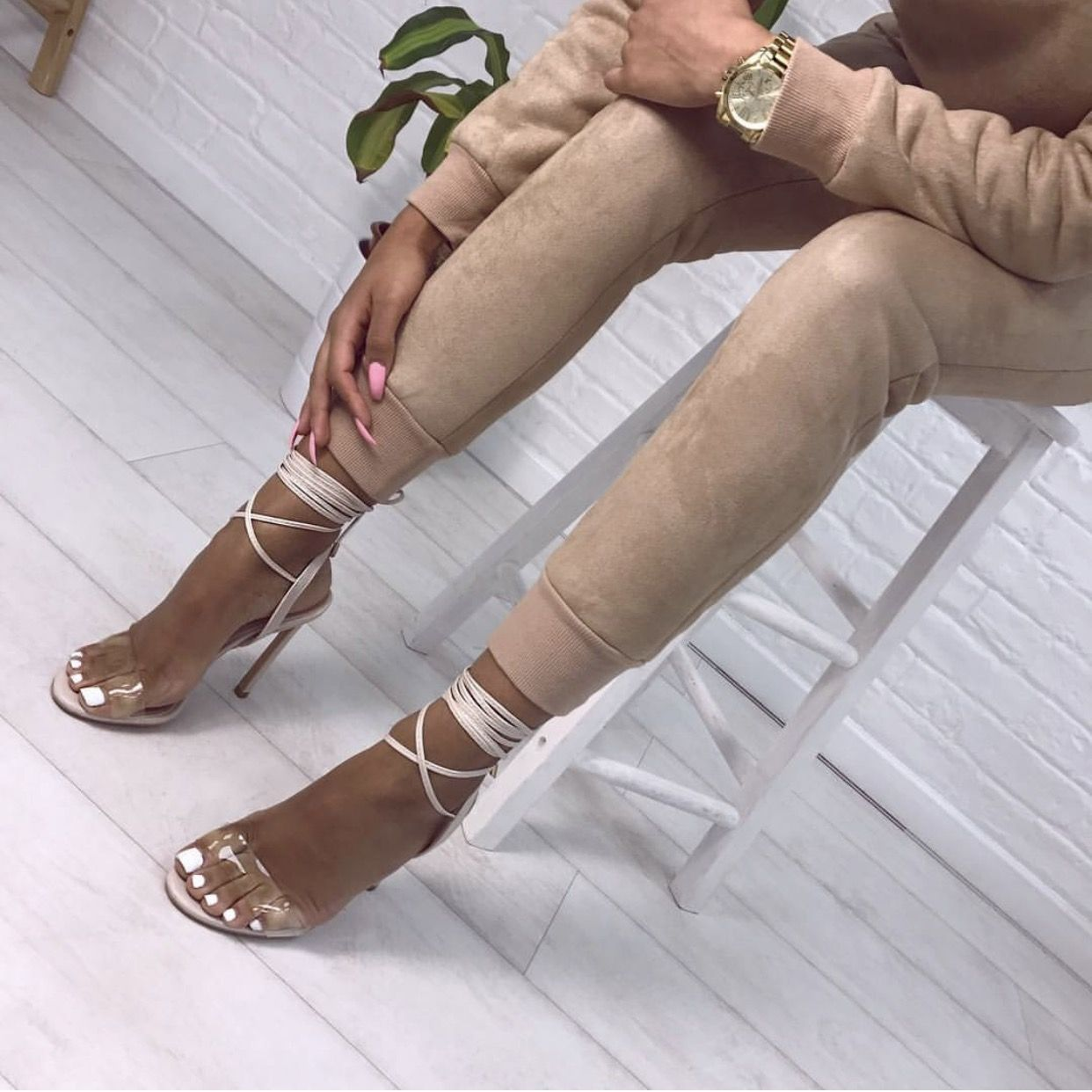 b6a234455ee 2017 Simmi Shoe Trends. Wrap around clear heel in nude.  LJONESSTYLE ...