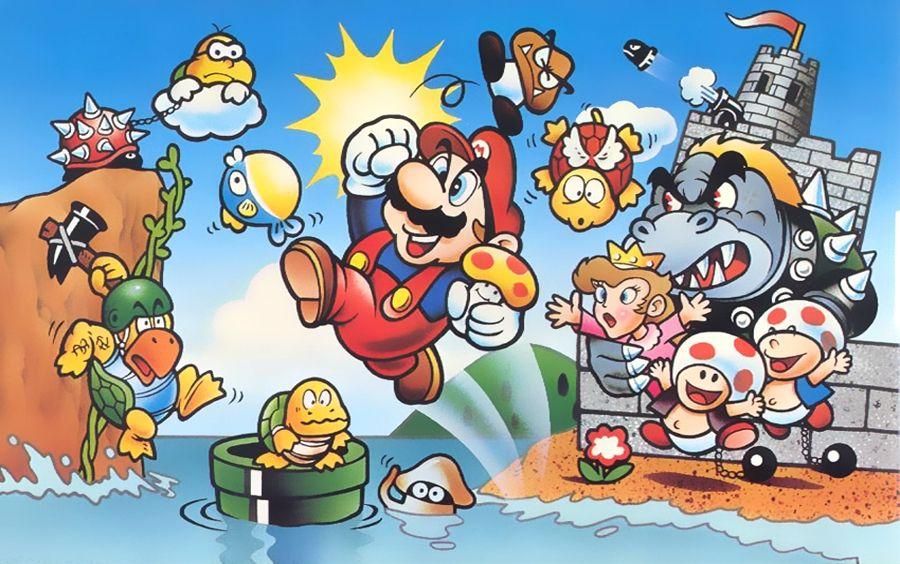 Original Famicom Box Art For Super Mario Bros Shigeru Miyamoto Super Mario Art Mario Art Super Mario Bros