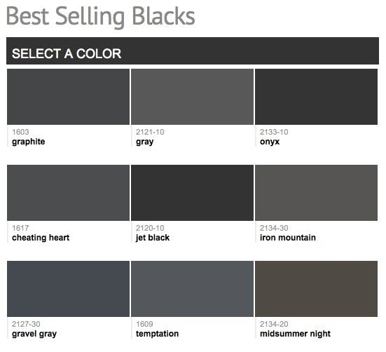 Best Selling Popular Shades Of Black Dark Neutral Paint Colors From Benjamin Moore Exterior Paint Colors For House Gray House Exterior House Paint Exterior