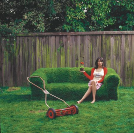 Grow A Sod Couch Diy Lawn Diy Backyard Backyard Furniture