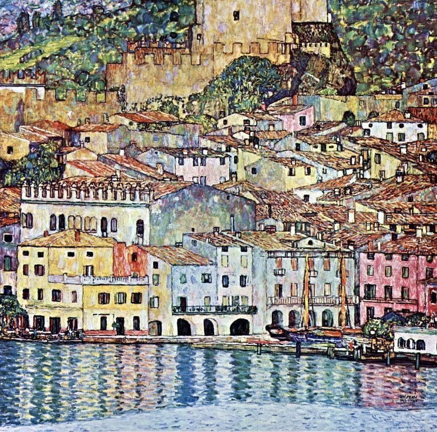 Gustav Klimt, 1913, oil on canvas, 110 x110 cm, Melcesine Lago di garda