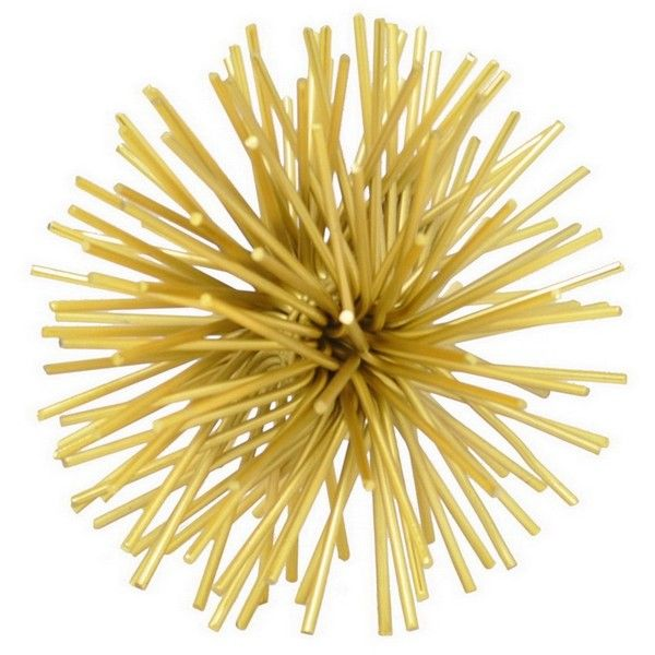 Ordinaire Three Hands Metallic Gold Starburst Orb ($30) ❤ Liked On Polyvore Featuring  Home,