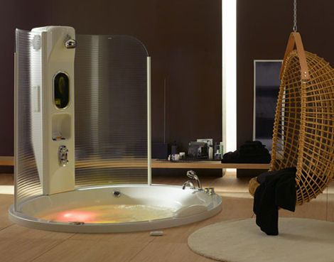 Shower Whirlpool Air Tub Combo From Albatros