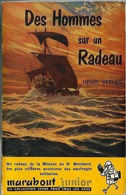Rare Marabout Junior N° 56 Eo Henri Vernes : Des Hommes Sur Un Radeau