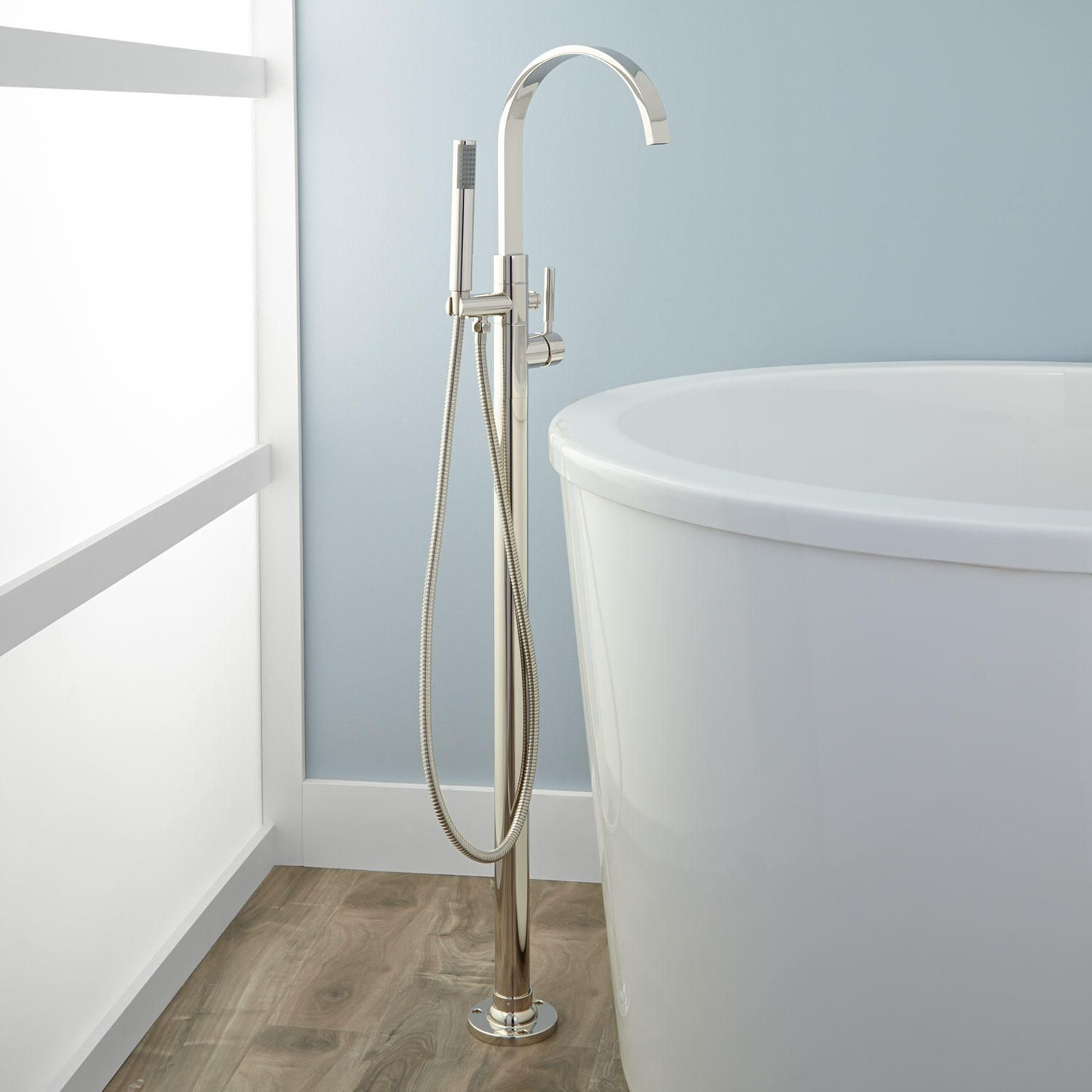 Benkei Freestanding Tub Faucet and Hand Shower | Pinterest ...
