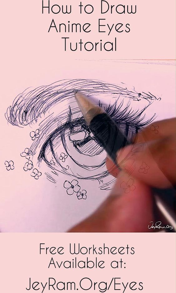 Learn how to draw the eyes using this step by step process made for beginners. Grab the free worksheets on the website and learn how to draw the simple eyes by developing the basic shapes of the eyes and then adding complexity. Drawing human anatomy is immensely satisfying and these free worksheets will help you make quick progress! By JeyRam #tutorial #howtodraw #anatomy #illustration #art #anime #manga #JeyRam