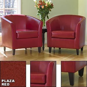 Admirable Costco 499 99 After 100 Off Plaza Red Bonded Leather Unemploymentrelief Wooden Chair Designs For Living Room Unemploymentrelieforg