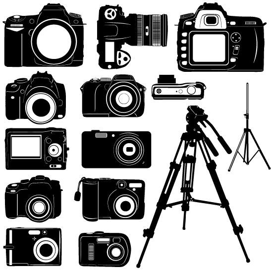 Pin By Velena Thompson On Vector Graphics Camera Silhouette Silhouette Vector Camera Art