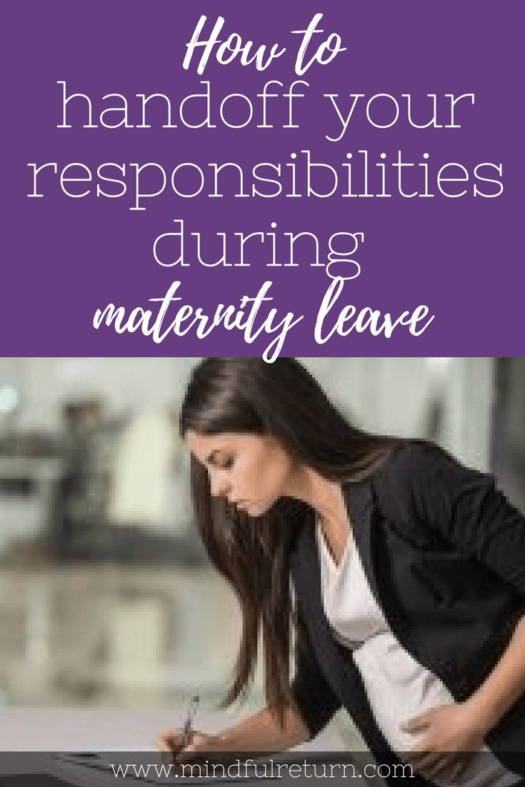 How to go on maternity leave 26