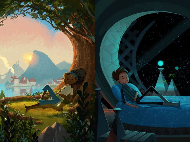 An image created by Nathan Stapley for the game Broken Age