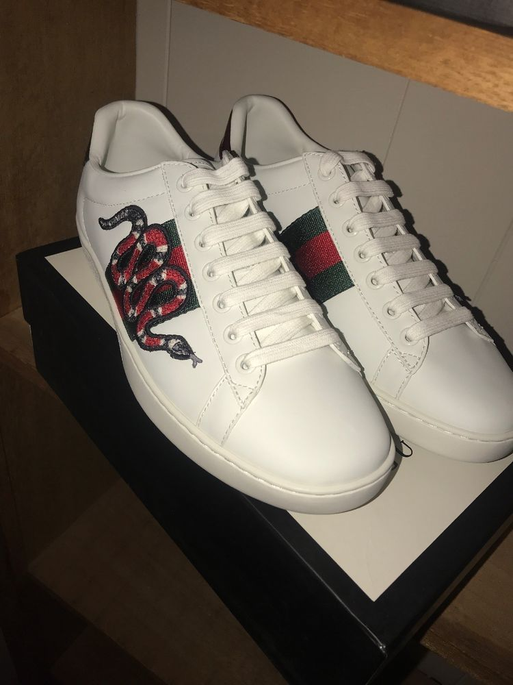 Gucci Ace Snake embroidered Sneaker #fashion #clothing