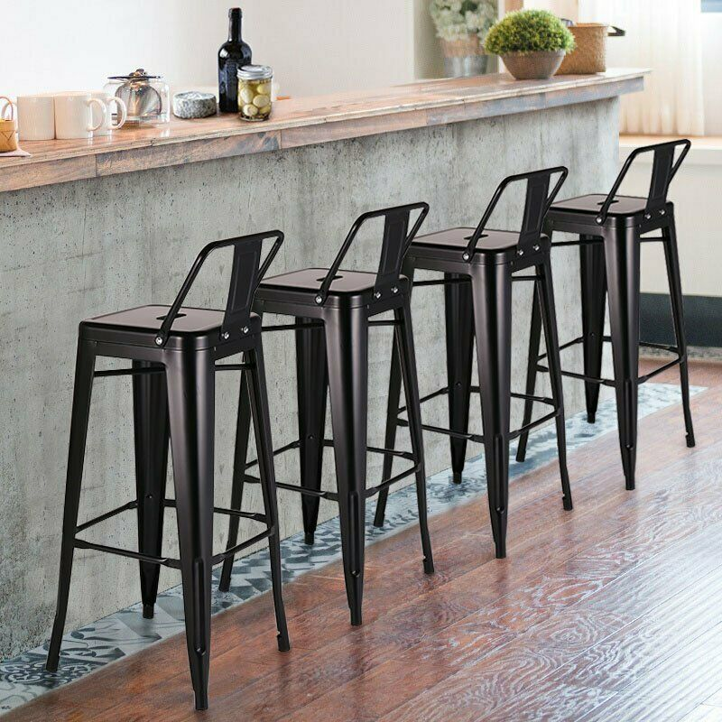 Details About Set Of 4 Ion Bar Stool 30 Counter Stools Low Back