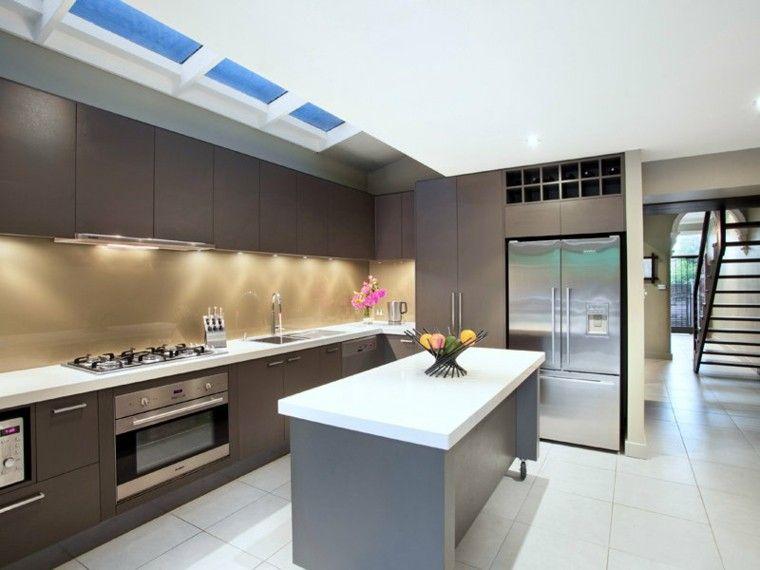 Diseño de cocinas modernas - 100 ejemplos geniales | Diseño de isla ...