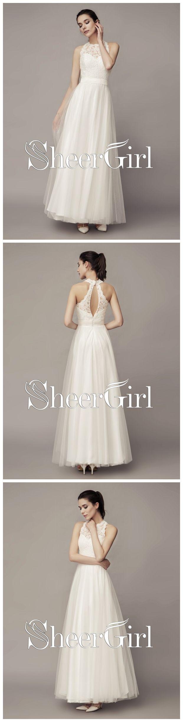 Simple cheap beach wedding dresses lace tulle summer wedding dresses