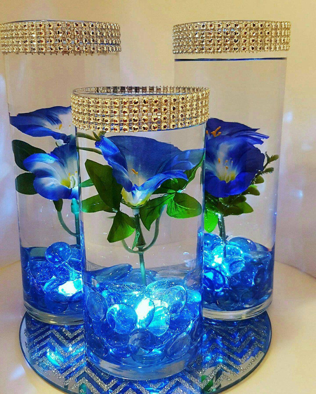 Shinny Floating Centerpiece: Boda Centro De Mesa Centro De Mesa Flor Flotante LED Luces