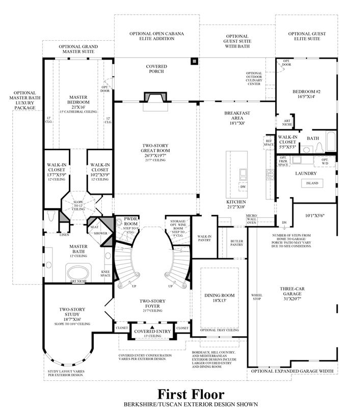 Sandhaven 1st Floor Courtyard House Plans Toll Brothers Sale House